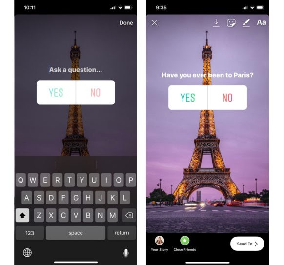 Using Instagram Stories to poll your audience