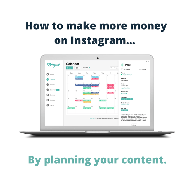 Art for post Build Your Content Calendar to Make Money on Instagram