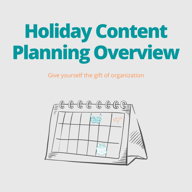 Cover art of blog post Holiday Content Planning Overview